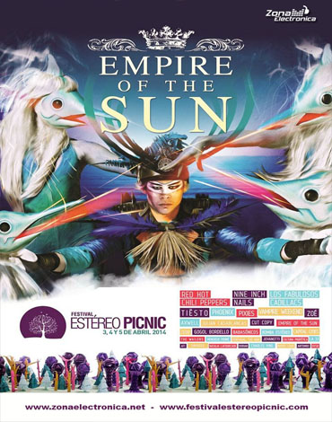 Empire of The Sound - Estero Picnic - Bogota - 3-4-5 Abril 2014